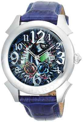 LOT OF 5 - NEED BATTERY - Men's Ed Hardy RE-PT Revolution Panther Blue Watches