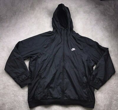 official photos 7522b 3865d Nike Windrunner Windbreaker Black White Jacket 727324-010 Mens S-XXXL NEW