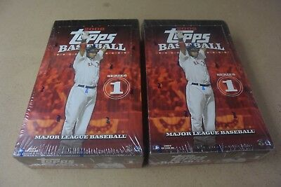 2008 Topps Baseball Series 1 Factory Sealed Hobby Wax Box Lot of 2 Boxes Nice!