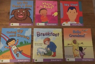 Oxford Reading Tree Snapdragons 6 Book Set Stage Level 1+ Purple RRP £30