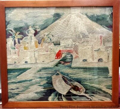 American Art Deco Embroidery Needlepoint Tapestry 1928 Paris Marian Stoll Major