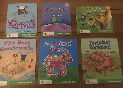 Oxford Reading Tree Snapdragons 6 Book Set Stage Level 2 Green RRP £30