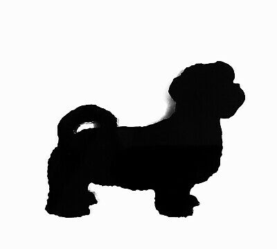Shi Tzu Dog Brooch In Black