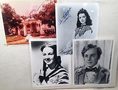 Gone With The Wind / Lot of 4 Supporting Cast Signed Photos