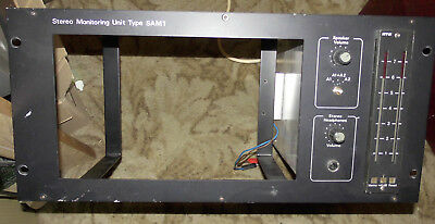 Vintage Stereo Monitoring Unit Type Sam 1, Powered Meters With Lead