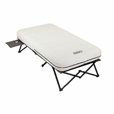 TWIN COT WITH AIR BED MATTRESS & BATTERY PUMP Coleman Camping Company Sleep NEW