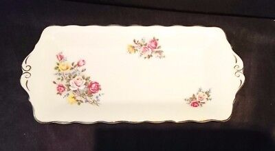 *VINTAGE Traditional QUEEN ANNE BONE CHINA 'COUNTRY GARDENS' SERVING PLATE*
