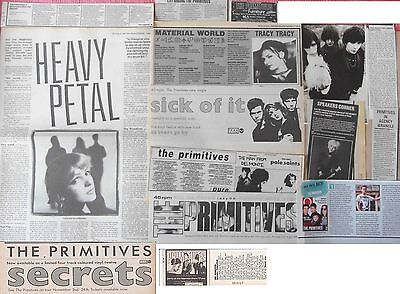THE PRIMITIVES : CUTTINGS COLLECTION -interviews adverts-