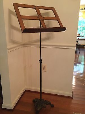 Antique K & B Sheet Music Stand, w/Claw Foot Base from Interlochen Music Camp