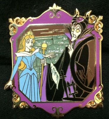 Disney Japan Sleeping Beauty  Maleficent and Aurora Spindle  pin LE