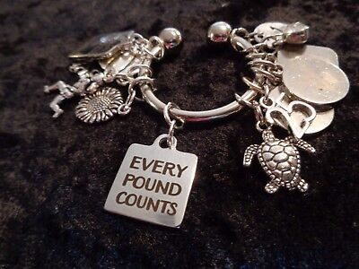 Every Pound Counts - Motivational Charm for Weight Watchers Keychain!