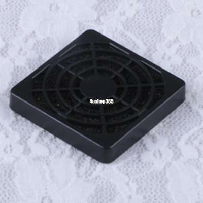 Black Plastic Mesh Dust Filter Cover Grill For 40Mm Square Computer Pc Case Fan