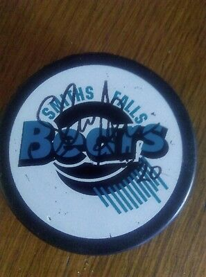 Signed Ice Hockey Puck Smiths Falls Bears