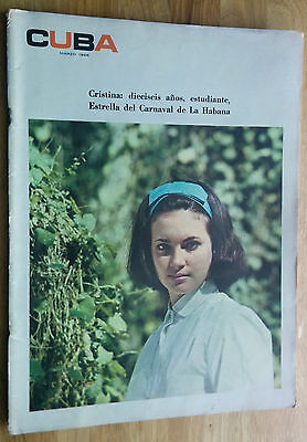 Cuba 1966 Revista Cuba Magazine Fidel Castro Revolution Illustrated Premios Casa