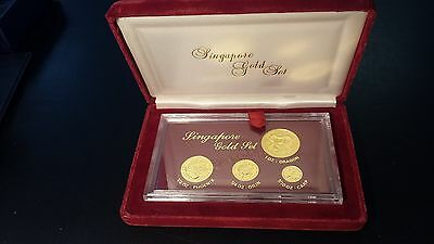 Singapore 1984 1.85 oz .999 Gold 4-Coin Proof Set