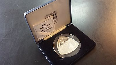 Bermuda 1996 $9 5 oz .999 Silver Proof Triangular Nine Dollar Coin