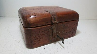 Vintage Locking Wooden Box with Key-Works