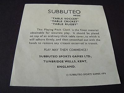 Original ( Green ) SUBUTEO Instructions for use of cloth pitch ~ 1974