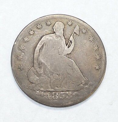1853 Liberty Seated Silver Half Dollar with Arrows at Date/Rays Around Eagle AG