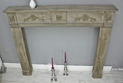 Mantelpiece Fireplaces MDF Brown for Electric Fireplace and Gel Fireplace