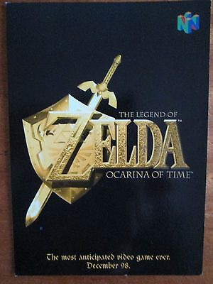 Legend of Zelda Ocarina of Time Nintendo 64 Picture Postcard 1998 Collectable