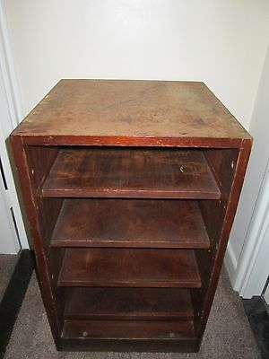 Vintage Solid Wood Shelving Storage Cabinet Unit with Dovetail Joints