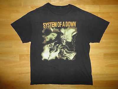 SYSTEM OF A DOWN Black TRIPPY DISTORTION Band Concert Shirt - Adult Size SOAD