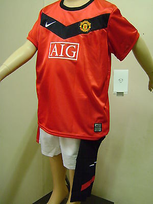Man Utd Official Licensed Home Kids Kit 09/10 Suit 9-12 Mth New