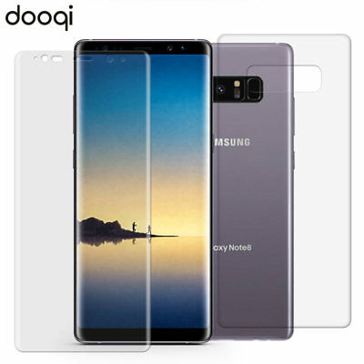 Front + Back Full Body Coverage Clear Screen Protector For Samsung Galaxy Note 8