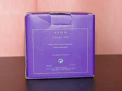 AVON POKER SET- New in Original Box Cards & 4 coloured Chips