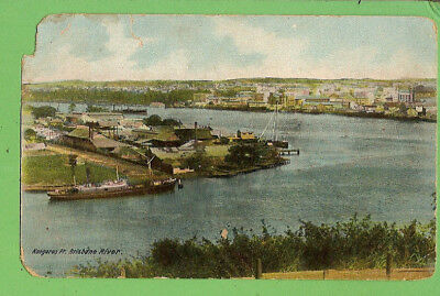 #j. Shipping  Postcard -   Kangaroo Point, Brisbane River
