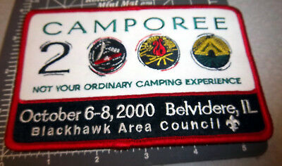 Boy Scouts of America, Blackhawk Area 2000 camporee Belvidere Embroidered Patch