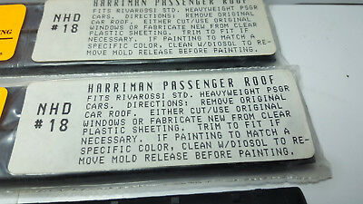 N Scale Harriman Passenger Car Coach Roofs