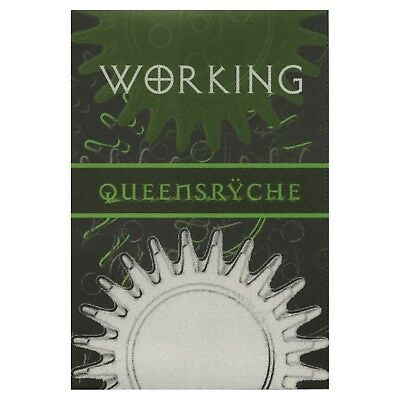 Queensryche authentic concert tour satin Backstage Pass working crew green