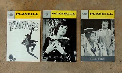 Lot of 3 Vintage Playbills HELLO DOLLY PURLIE FADE OUT-FADE IN Theater Magazines