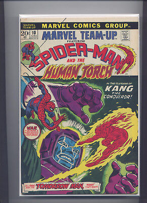 Marvel Team-Up #10 (Jun 1973) Spider-Man & Human Torch, Nice Copy, See the Scans
