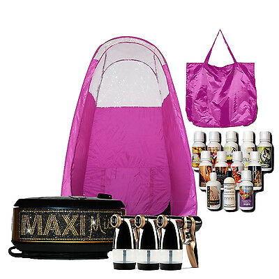 Maximist Allure Xena Bling Sunless Spraytan Kit with Pink Tent