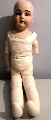 "Antique 24"" Bisque Head Doll German or French Jointed Leather Body 12.154.DEP"