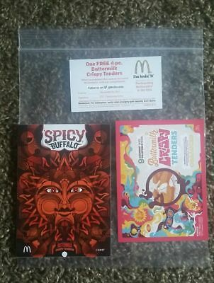 Rick and Morty's Szechuan sauce Spicy Buffalo Promo sticker McDonald's