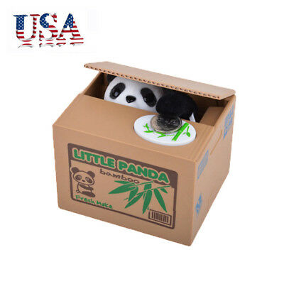 Cute Panda Automated Piggy Bank Money Box Stealing Coin Saving Money Box