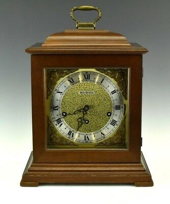 Seth Thomas Germany Legacy 3W Wood Case Key Wind 2 Jewels Shelf Mantle Clock NR