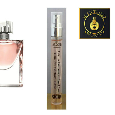 10ml Glass Jumbo *180 sprays & SAMPLE of La vie est belle Lancome EDP Perfume