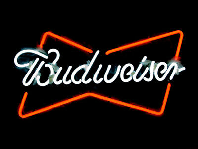 Budweiser Bowtie - Beer Neverage Neon Light Sign ME239 **FREE SHIPPING**