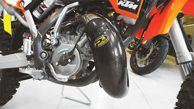 P3 Carbon Fiber Pipe Guard for Stock Pipe #101020 for KTM 65 SX/65 SXS