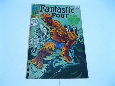 "Vintage FANTASTIC FOUR #79 ""1968"" Comic Book Jack Kirby Silver Age  Marvel"