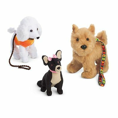 American Girl  Julie's Dog-Walking Set  Poodle Terrier Mutt  Chihuahua  NEW