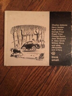 Vintage 1967 Think Small VW Volkswagen Car Dealer Promo  Cartoon HC Book