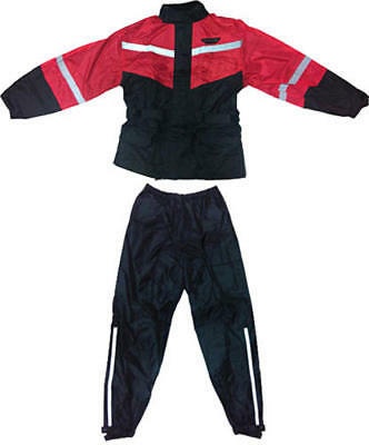 Fly Racing 2-Piece Rain Suit Black/Red Small