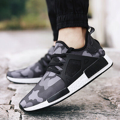 Men Athletic Camouflage Casual Sneakers Outdoor Running Flat Hiking Sports Shoes