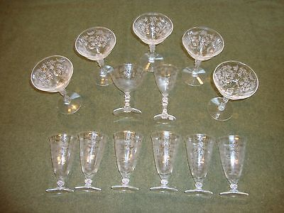 Fostoria Chintz Crystal Glasses
